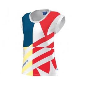 41588772b8fa6 Camiseta Regata adidas Originals Tipo Bata Linda Estampa