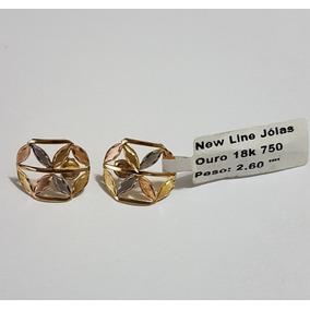 0f8862fefb5 Brinco Em Ouro 18k 750 Com 3 Cores De Ouro Com 2