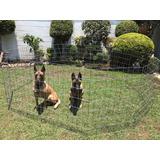 Jaula Corral Para Perro 1mt D Alto 10 Paneles Mega Economico