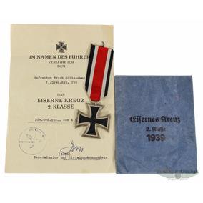 Cruz De Ferro 1939 Com Diploma E Envelope - 2ª Guerra Mundia