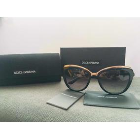 Autentico Dolce Gabbana Oculos De Sol Dourado Espelhado - Óculos no ... 1a78d7a6bd