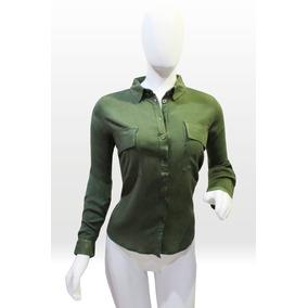 Blusa Para Dama Manga Larga Color Verde