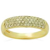 Anel De Ouro 18k Meia Aliança Pavê De Diamantes Naturais Jk 64ce976518
