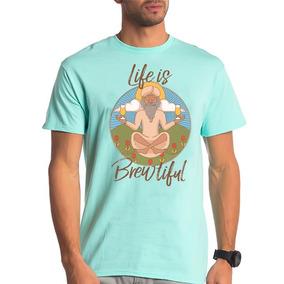 Camisa Camiseta A Vida É Fermentada Frase Cerveja Bordão