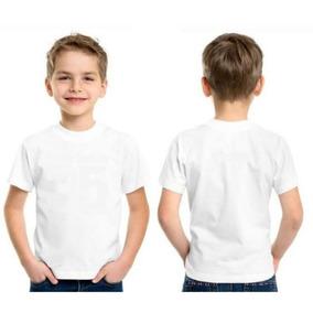 Kit 3 Camisetas Infantil Branca Básica Lisa Tam 0 Ao 16