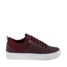Tenis Casual Pink Price Shoes 6181 Vino Dama 183031