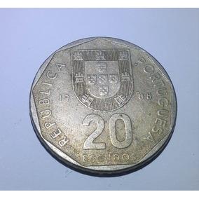 Moeda 20 Escudos 1988 Portugal