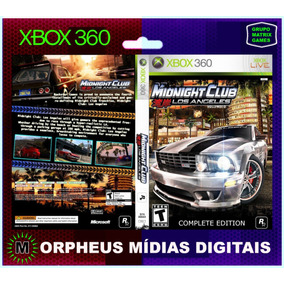 Midnight Club Xbox 360 Original - Mídia Digital