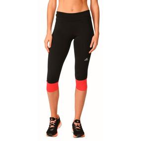 Licras Deportivas Cortas Adidas Mujer Negras - Ropa f0cf53581a9e