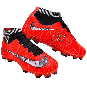 Chuteira Nike Botinha Vermelha - Chuteiras Nike de Campo para ... 004d8a9dd560c