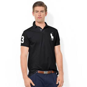 Playera Polo By Ralph Lauren Custom Fit Color Negro Con Blan