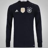 427b459393 Aa0126 Camisa adidas Alemanha Goleiro 2016 M Preta Fn1608