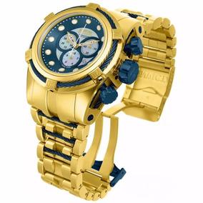 215a366b1ab Relógio Invicta Reserve Bolt Zeus 12742 Gold Azul Original ...