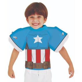 Blusa Camiseta Proteção Solar C  Boia Braço Capitao America fa64f31d22d01