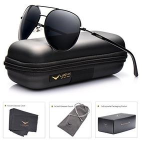 Aviator Gafas De Sol Hombre Mujer Polarizada Negro Lente Ne 99b23a6c6c
