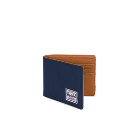 Billetera Herschel Supply Hank Rfid Navy/tan Synthetic Leath