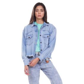 Camisa Jeans Levis Feminino Long Sleeve Addison Clara fccc090796f