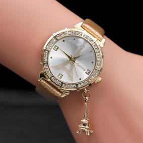 174ea5a1384 Relogio Feminino Dourado Com Pingente De Cavalo - Relógios no ...