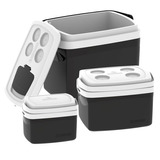 3 Caixa Térmica Cooler Combo De 32 L 12 L 5 Litros Soprano