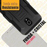 Funda Protector Uso Rudo + Cristal Alcatel Fierce Xl 5054