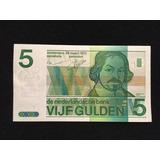 Billete Holanda - 5 Gulden - 1973 - L&m7705