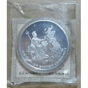 Moeda Elizabeth Ii Penny-inlay Numerada C/ Certificado
