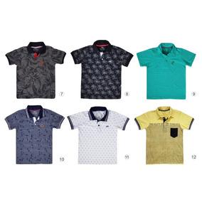 Kit De 5 Camisa Gola Polo Infantil Masculina Camiseta Menino a369249f19a7e