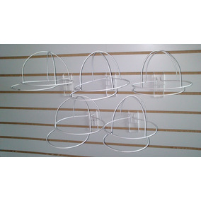 Porta Gorra Metalica Para Panel Ranurado
