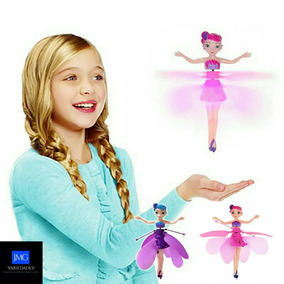 Boneca Fada Bailarina Voadora Flutuante Voa Rosa Ou Lílas