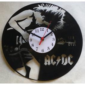 f2e0213994b Relógio De Parede Em Disco De Vinil Personalizado Ac dc