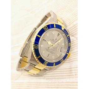 eff8ca9b2fe Rolex Submariner Aço E Ouro Preto Revisado Rolex - Relógios De Pulso ...