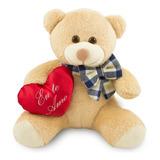 Ursinho Apaixonado Com Coração 20cm Anti-alérgico