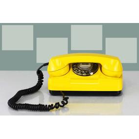 Telefone Disco Vintage Fio Anos 70 Funcionando Exclusivo