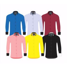 Camisas Social Masculina Slim Fit - Atacado - P Ao Gg