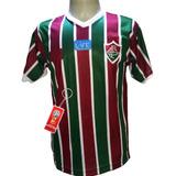 Camisa Fluminense Azul Faixa Vermelha Nova 2019 Lancamento edfcb959a6264