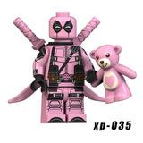 Mini Figura Deadpool Rosa Para Armar Compatible Lego