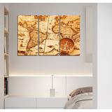 Cuadro Triptico Mapa Vintage Brujula M1 60x90cm Total 5545fe1735ae