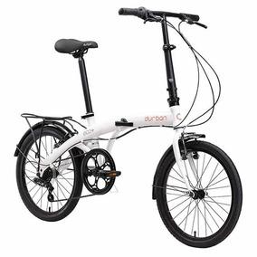 Bicicleta Dobrável Durban Eco+ Branco Aro 20 C/ Marchas