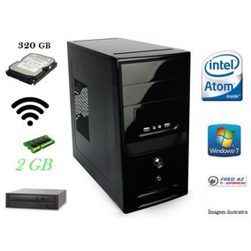 Cpu Intel 2 Gb Hd 320gb Dvd Wifi C/ Windows 7 Instalado