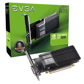 Placa De Video 2gb Gt 1030 Evga Sc Passive Lp Gddr5 Geforce-