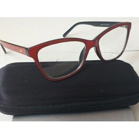 Oculos De Grau Feminino Chanel Gatinho - Óculos De Grau Vermelho no ... c08c764d07