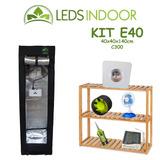 Kit De Cultivo Leds Indoor E40 - 40x40x140cm - C300