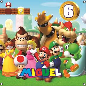 Articulos Para Fiesta Infantil De Mario Bros Recuerdos Cotillón Y