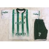 Kit Conjunto Camisa Calcao Palmeiras Verdao Palestra Promoca