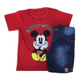 04 Conjuntos Infantis Masculino Jeans Roupas Menino Atacado