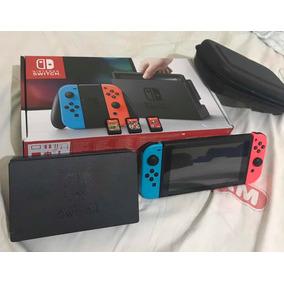Nintendo Switch + 4 Jogos + Película + Case