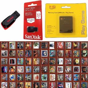 Kit Ps2 Memory Card+opl+pen Drive 32gb Completo Com Jgs