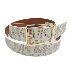 Cinturón Michael Kors Para Dama Beige Con Dorado 553119c Re