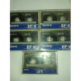 Lote De 5 Fita K7 K-7 Cassete Sony