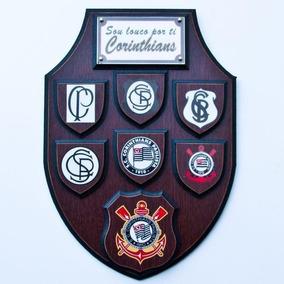 b2544a7a21 Escudo Corinthians - Placa Decorativa Em Alumínio. São Paulo · Corinthians  Brasão Escudo Decoração 35cm - Timão - Atlético